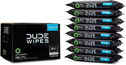 DUDE Wipes Flushable Wipes, Fragrance Free, Extra Large, 42Count (Pack of 8)
