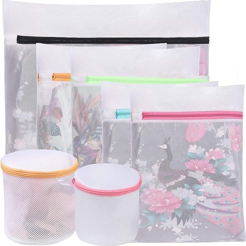 BAGAIL Mesh Laundry Bags Laundry Blouse Hosiery Stocking Underwear Bra Lingerie Travel Laundry Bag 7 Set