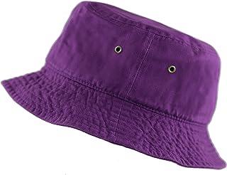 2df49799d25 THE HAT DEPOT 300N Unisex 100% Cotton Packable Summer Travel Bucket Beach  Sun Hat