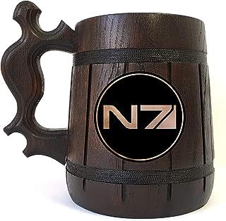 Mass Effect N7 Beer Mug, Gamer Gift, Beer Stein, Mass Effect Tankard, Gift for Men, Gift for Him, Geek Gift
