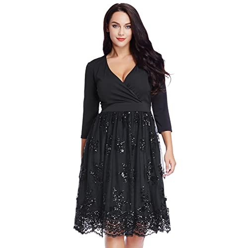 Plus Size Sequin Dresses: Amazon.com