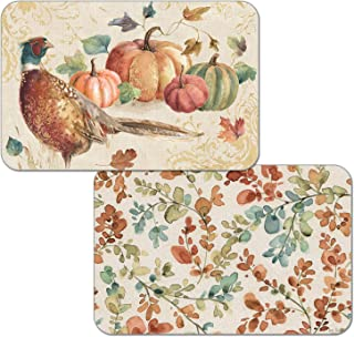 Counterart Set of 4 Reversible Wipe Clean Placemats Harvest Moments
