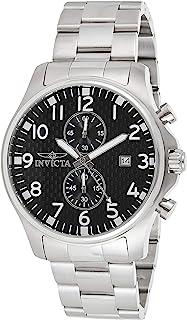 Invicta 0379 Specialty Reloj para Hombre acero inoxidable Cuarzo Esfera negro