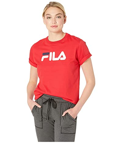 Fila Eagle Tee (Chinese Red/White/Peach) Women
