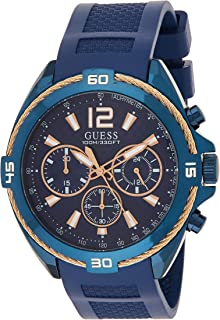 Guess W1168G4 analog Silicone Sport Watch For Men - Navy