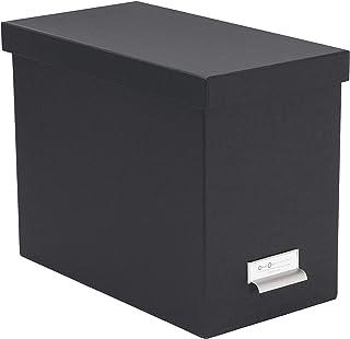 Bigso Box of Sweden 944145644 Porte INCL. 8 dossiers Suspendus, Panneau de Fibre, Gris Foncé, 35 x 18,5 x 27 cm