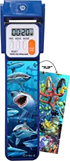 "Mark-My-Time 3D ""FLIP"" Shark/Reef Digital LED Booklight Reading Timer"