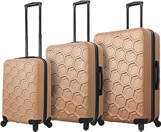 Mia Toro Italy Molded Art Hive Hard Side Spinner Luggage 3 Piece Set