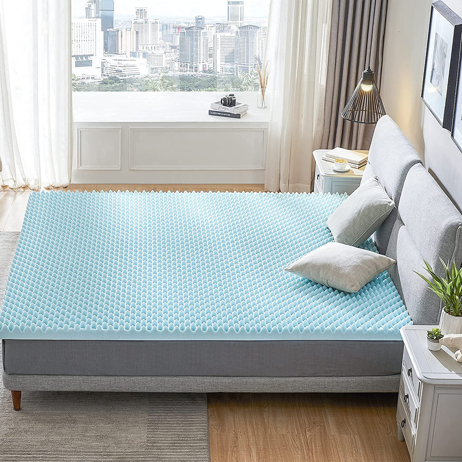 RECCI 2.5-Inch Egg Crate Mattress Popular products King Topper Pressure Relief Year-end gift M