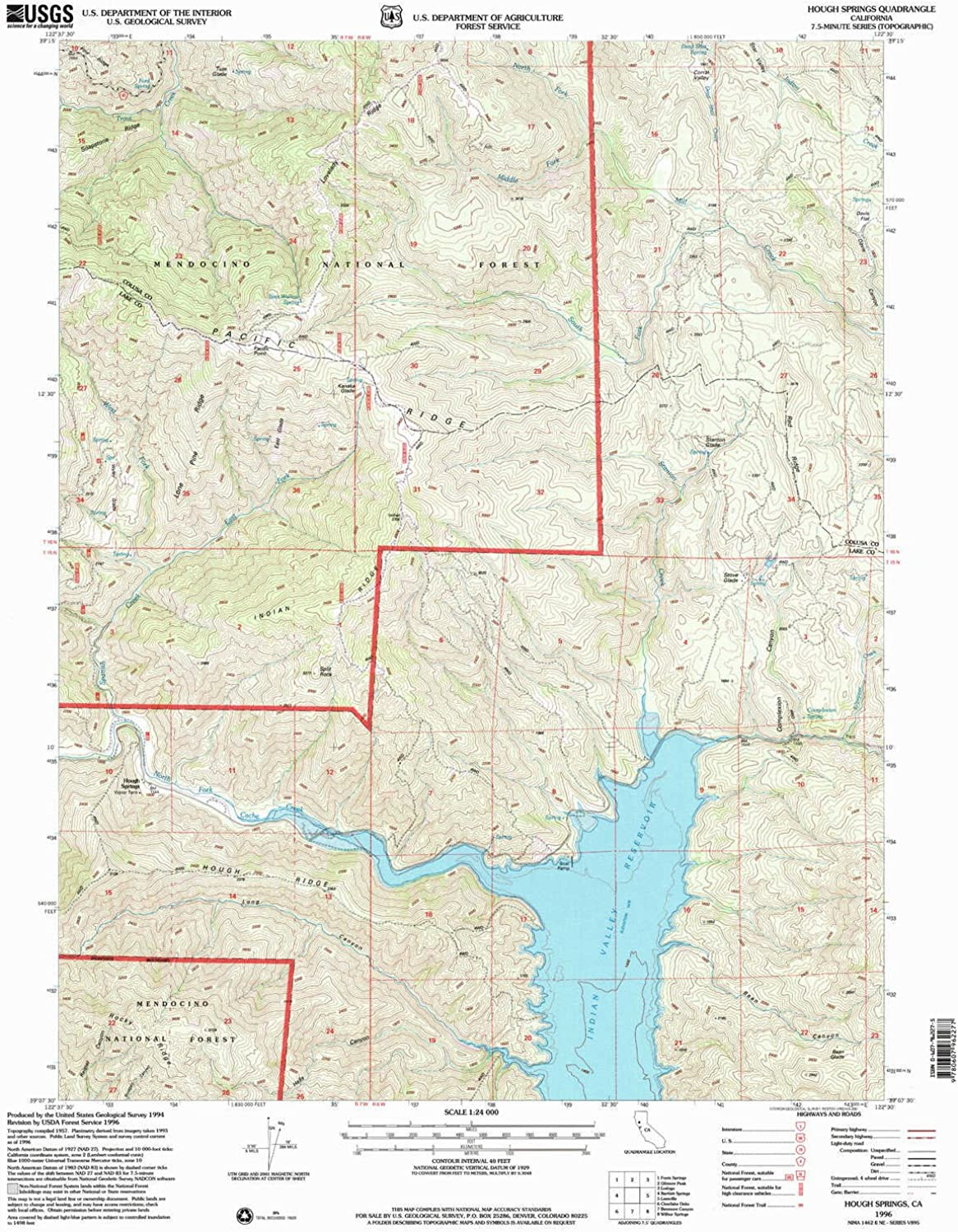 Hough Springs CA topo map, 1 24000 Scale, 7.5 X 7.5 Minute, Historical, 1996, Updated 2001, 26.6 x 21.4 in