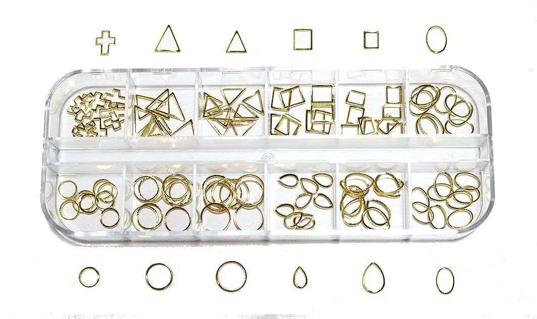 年キリスト定義する【jewel】 メタルフレームパーツ ゴールドorシルバー 12種類 各10個入り カラー選択可能☆ (ゴールド)