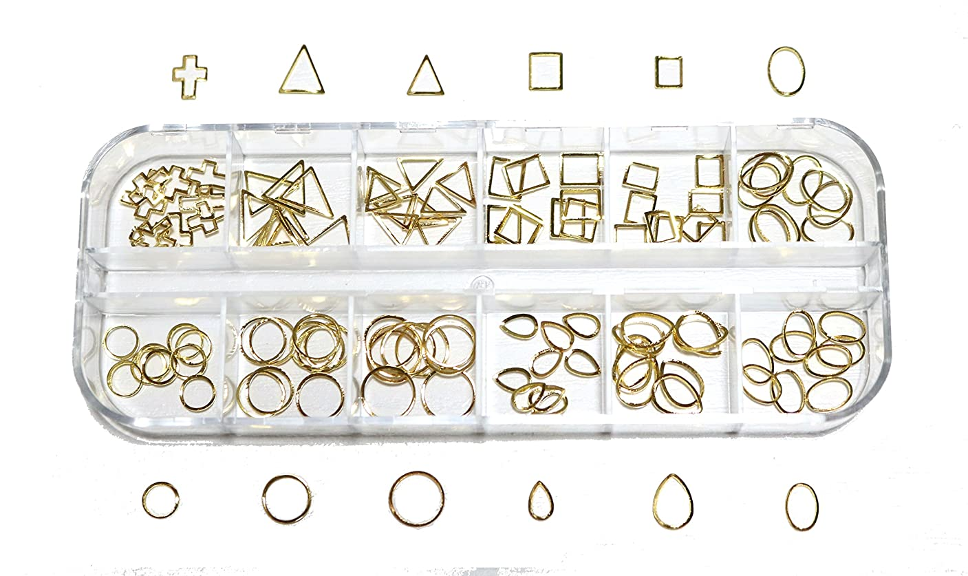 文化アセンブリ一口【jewel】 メタルフレームパーツ ゴールドorシルバー 12種類 各10個入り カラー選択可能☆ (ゴールド)