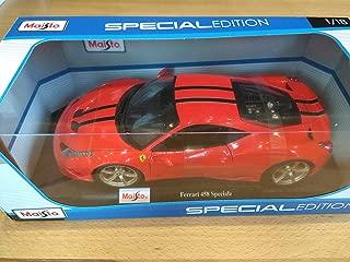 MAISTO 1:18 Window Box DIECAST Ferrari 458 Special RED Color