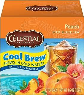 Celestial Seasonings Iced Tea, Peach Cool Brew, 40 Count