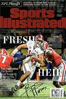 Tua Tagovailoa Sports Illustrated Autograph Replica Super Print - Fresh Heir - Alabama Crimson Tide - 1/15/2018 - Unframed