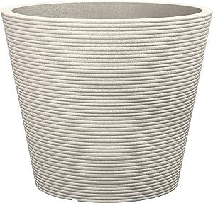 Scheurich Coneo, Pflanzgefäß aus Kunststoff, Sand, 40 cm Durchmesser, 33,2 cm hoch, 26 l Vol.