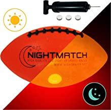NIGHTMATCH Light Up Football INCL Ball Pump and Spare Batteries – Inside LED Lights..