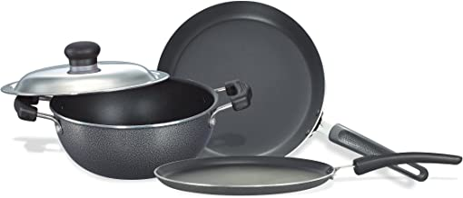 Prestige Omega Select Plus Non-Stick BYK Set, 3-Pieces, Gas-stove compatible only
