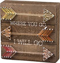 Primitives by Kathy String Art Box Sign, 6 x 6, Will Go