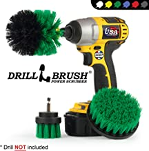 Drillbrush Green Kitchen Cleaning Drill Brushes – Stainless Steel Sink..