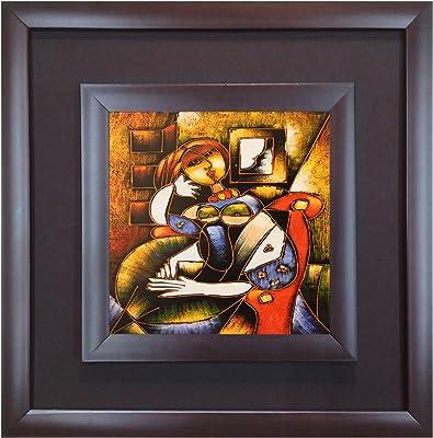 SAF Wall Painting (Acrylic, 30 cm x 3 cm x 30 cm, Double Frame Canvas Coated, DK70074)