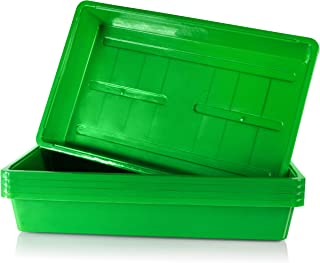 Seed Starter Tray for Plant Growing (Without Holes) - Strong, Durable, Reusable - Grow and Start Seeds, Good for Your Gree...