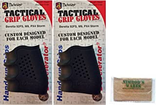 Nimrod's Wares Two Pachmayr 05160 Grip Glove Sleeves Beretta 92 FS M9 PX4 Storm with Microfiber Cloth
