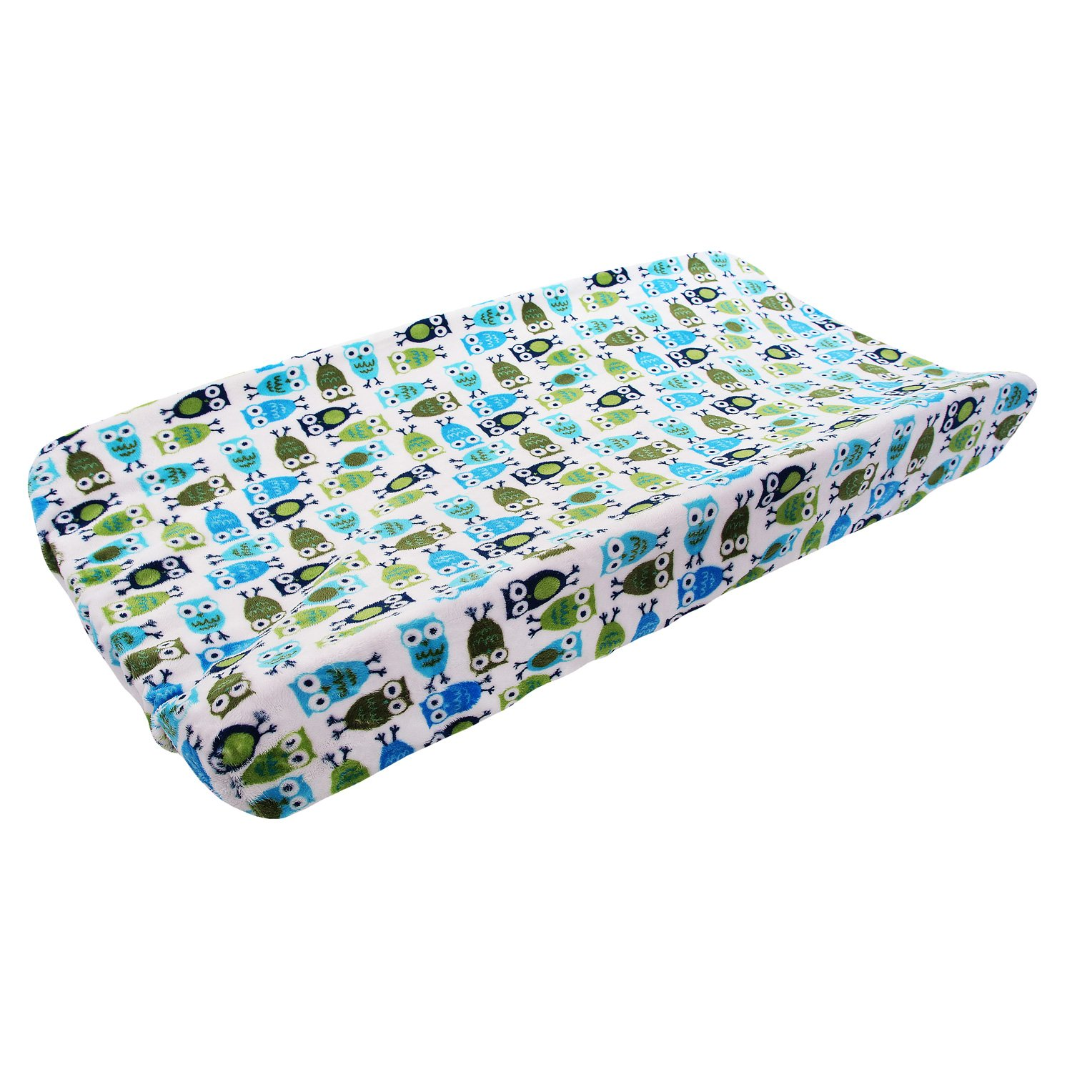 My Blankee Night Owl Minky Changing Pad Cover, Midnight, 16
