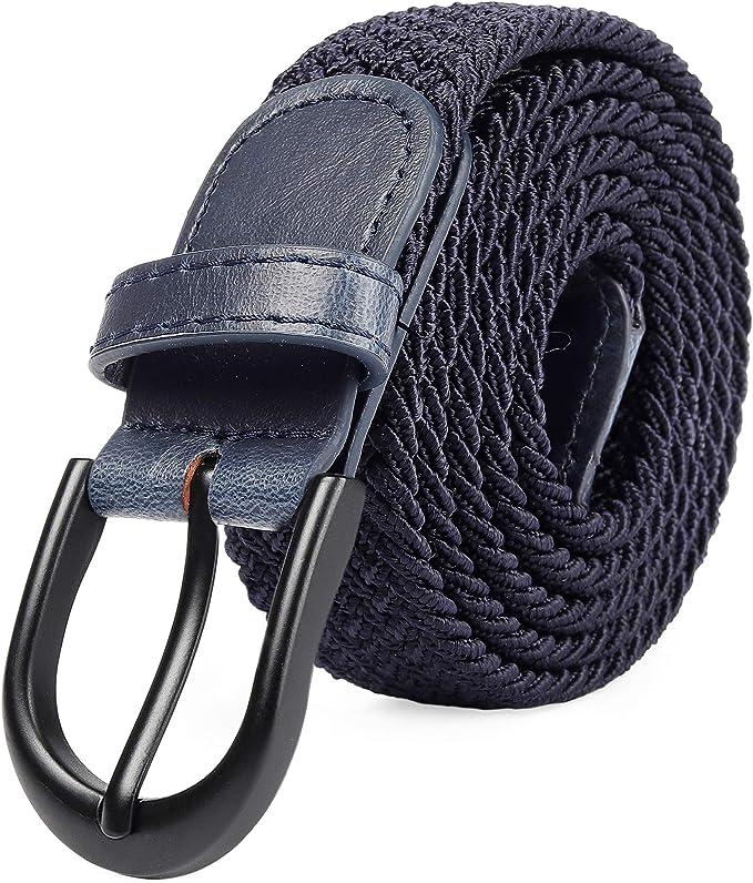 8541 opinioni per Cintura elastica intrecciata con fibbia ovale Fibbia nera con fibbia in pelle