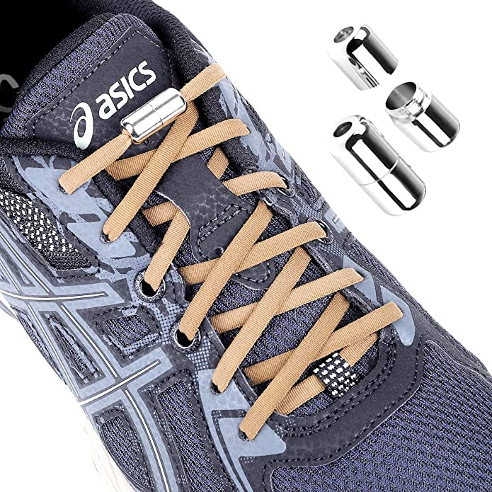 16X Easy No Tie Shoelaces Elastic Silicone Flat Lazy Shoe Lace Strings Adult NEW