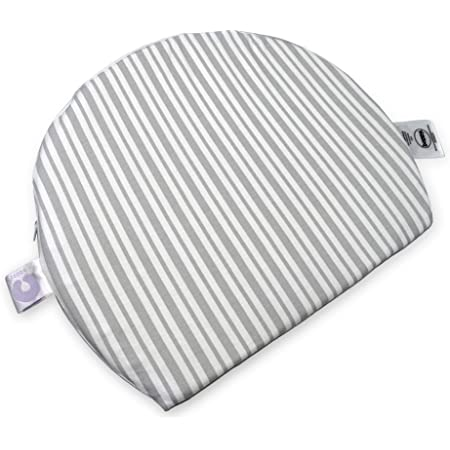 Boppy Pregnancy Wedge, Gray Modern Stripe, Maternity Wedge with Removable Jersey Cover
