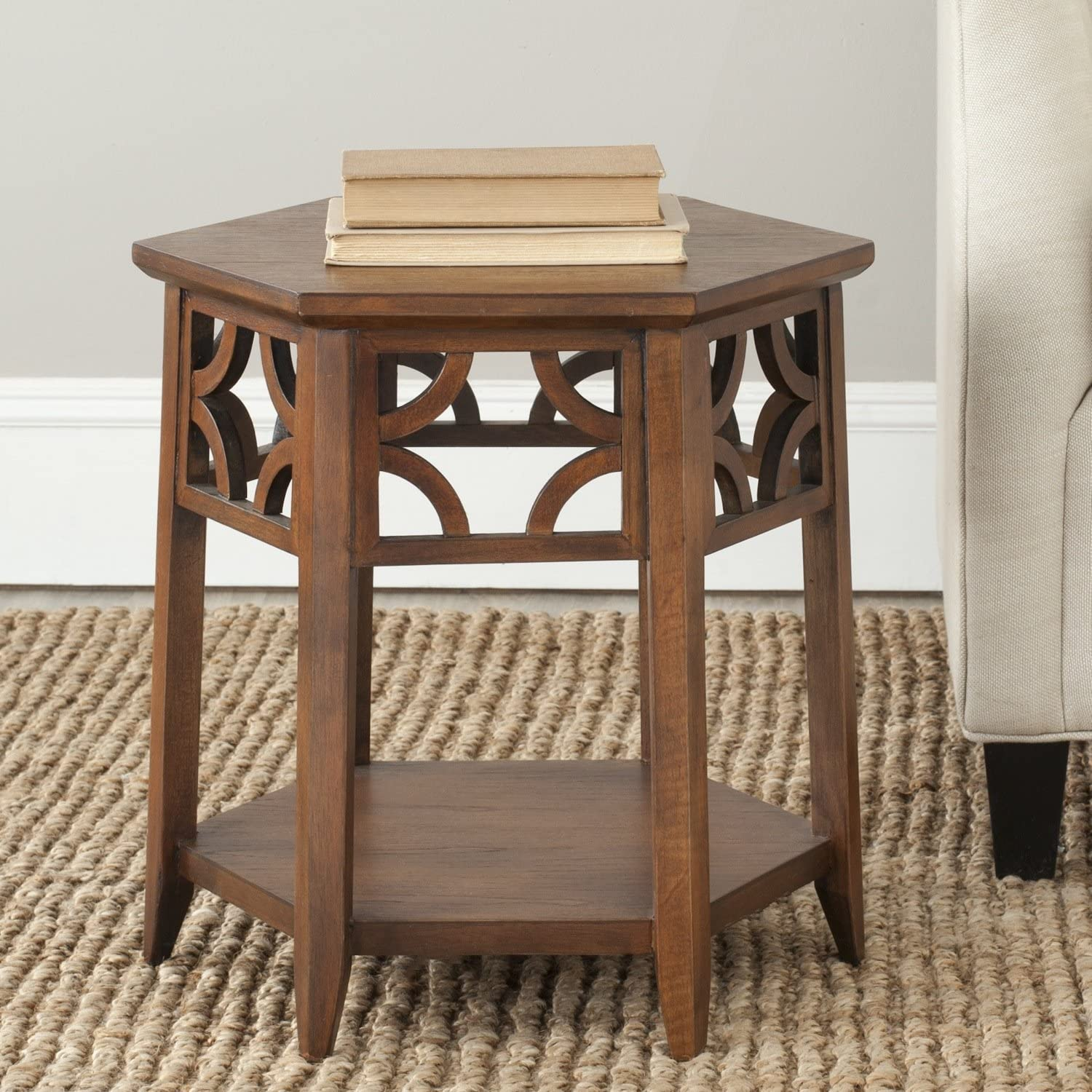 Safavieh American Home Collection Alcester Light Brown End Table