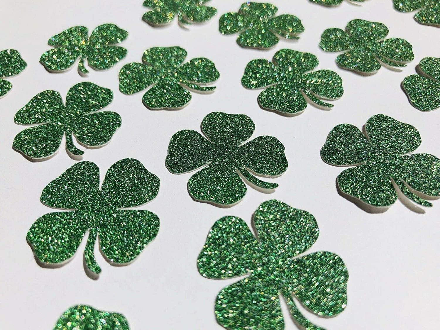 50 x Green Lucky four leaf New popularity Clover table Pa St confetti Ranking TOP12 scatter.
