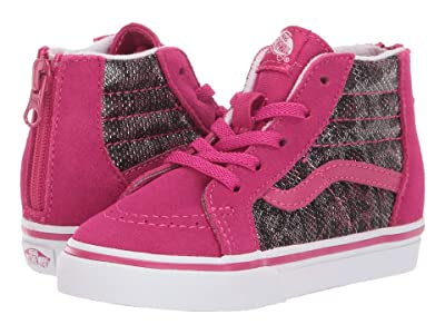 Vans Kids Sk8-Hi Zip (Infant/Toddler) ((Leopard Mesh) Vivacious) Girls Shoes