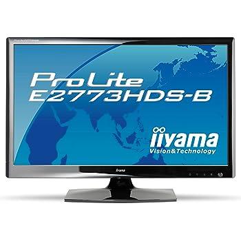 iiyama 27インチワイド液晶ディスプレイ LEDバックライト搭載 HDMIケーブル同梱モデル マーベルブラック PLE2773HDS-B1