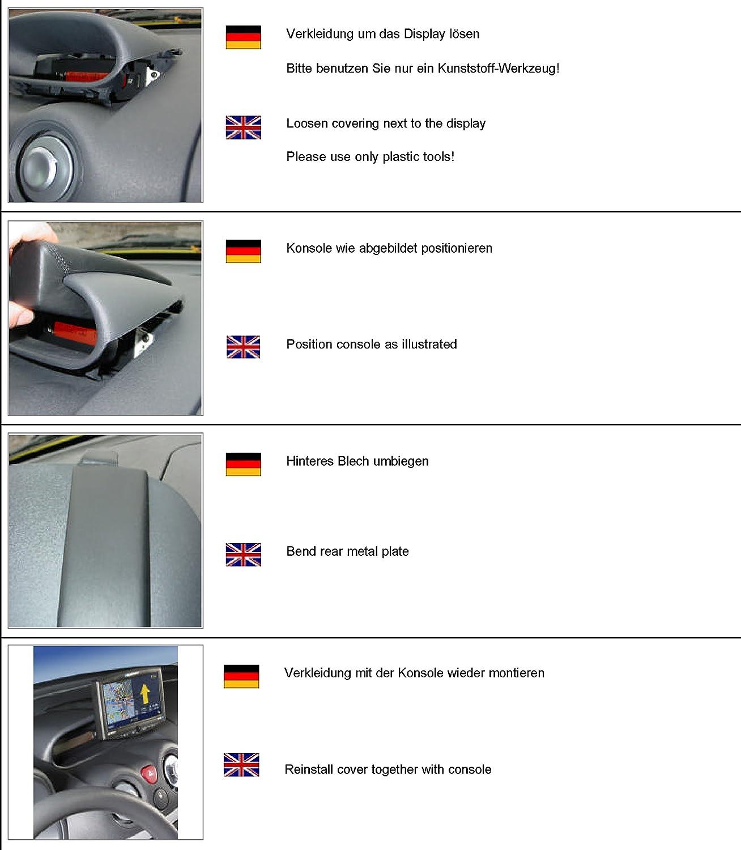 Kuda 287160 Halterung Echtleder Schwarz Für Citroën C3 Elektronik
