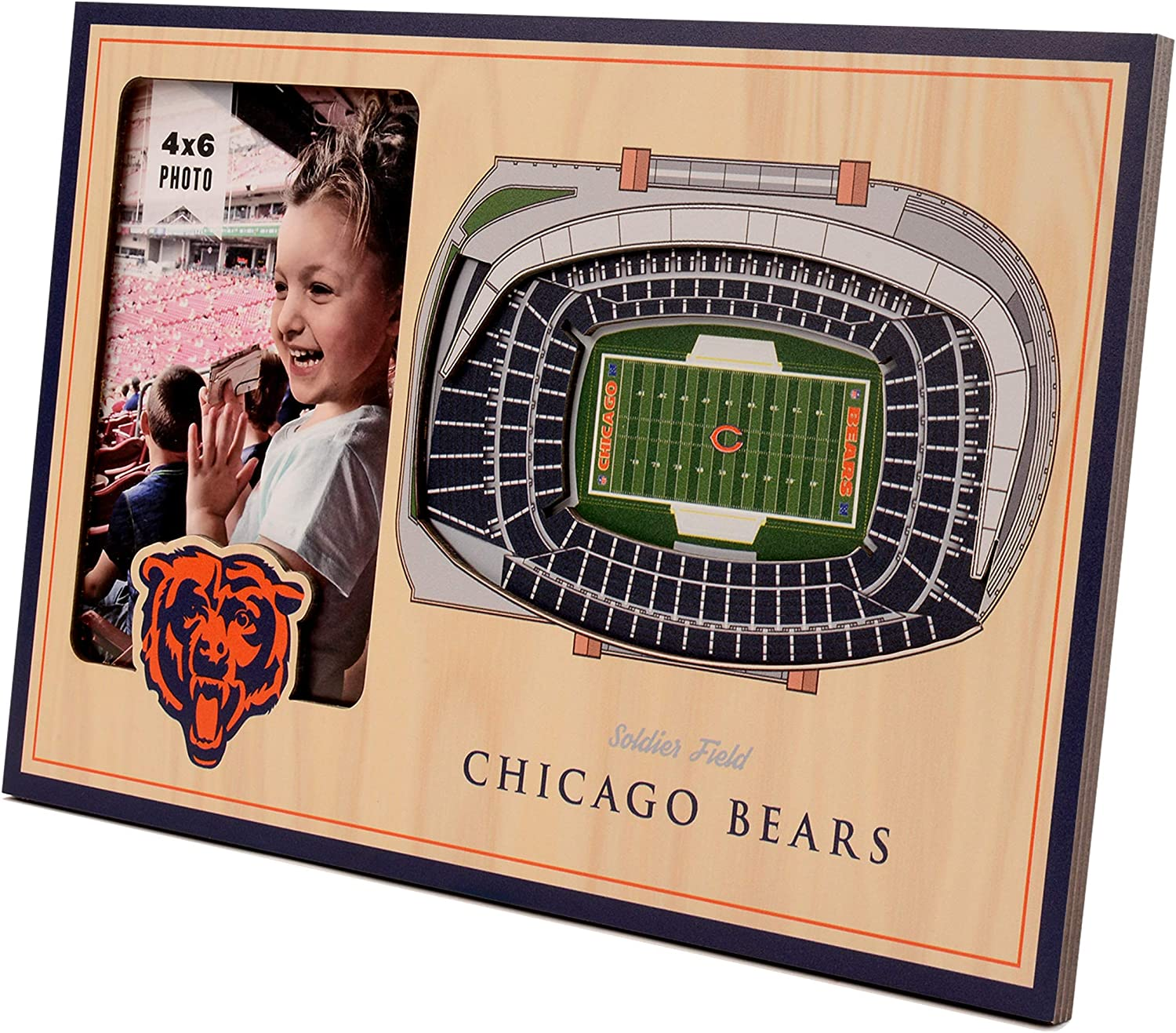 NFL New color Chicago Bears 3D StadiumViews Cheap SALE Start Picture Frame