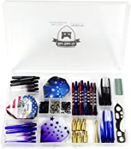 SHOT TAKER CO. EST. 2017 Deluxe Darts Tune up Kit Box | Flights, Stems, Toolkits, Sharpener, Box, Shafts, O-Rings, Tridents, Springs, Flight Savers, Accessories.