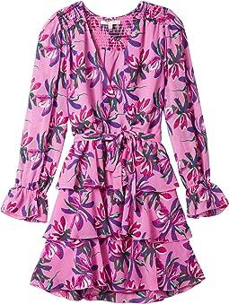 Lettie Tiered Long Sleeve Belted Mini Dress