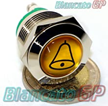 N9231 Sonnette de porte en laiton nickel/é et poli brillant avec plaque de sonnette et bouton-poussoir Fait main