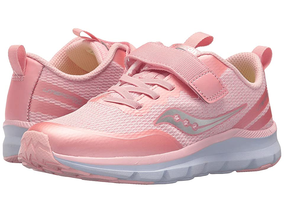 Saucony Kids Liteform Feel A/C (Little Kid) (Pink Sparkle) Girls Shoes