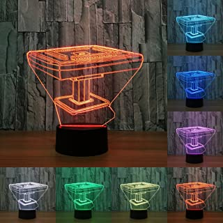 Mahjong Table 3D Light Illusion Lamp Transparent Acrylic Night Light Led Fairy Lampa Color Changing Touch Table Light (Changeable)