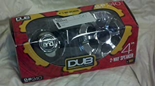 Dub Mag Audio (Manufactured By Audiobahn) Dub240 4 Inch 320 Watt Set of 2-way Speakers with Chrome Basket and Silk Dome Swivel Tweeters