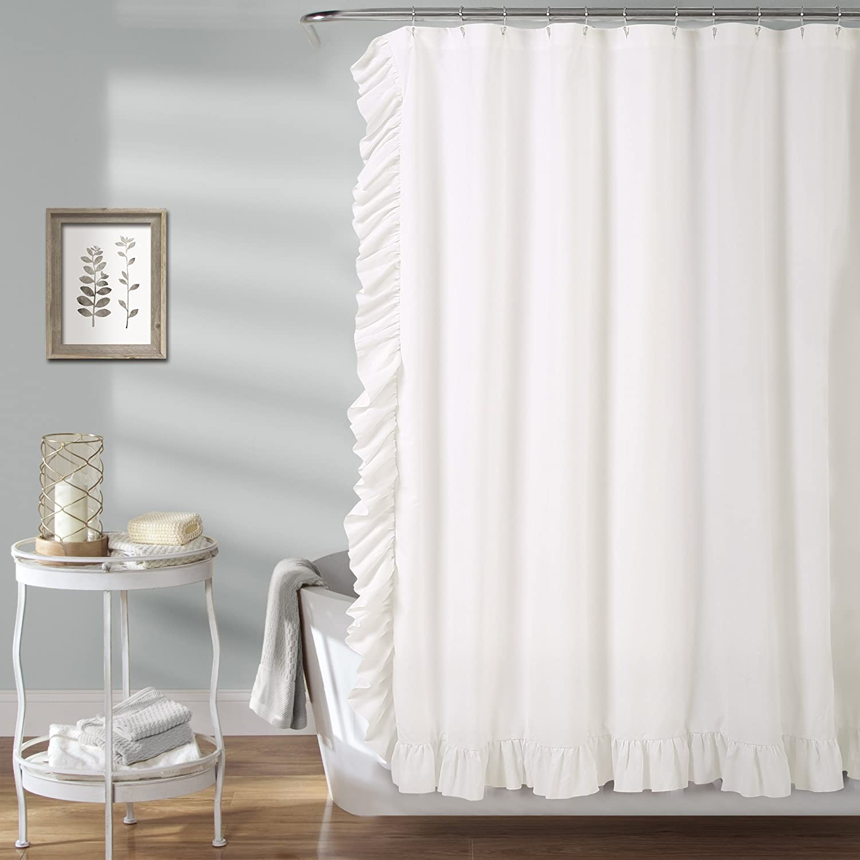 Lush Decor Reyna Oakland Mall Shower x Curtain White 72