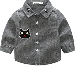 Fairy Baby Toodlers Baby Boys Cats Shirt Outfit Cotton Long Sleeve Casual Tops T-Shirt