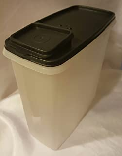 Vintage Tupperware Cereal Pasta Keeper, Sheer Storage Container Dispenser #1588 Blue Flip Top