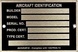 Placa de identificação da aeronave