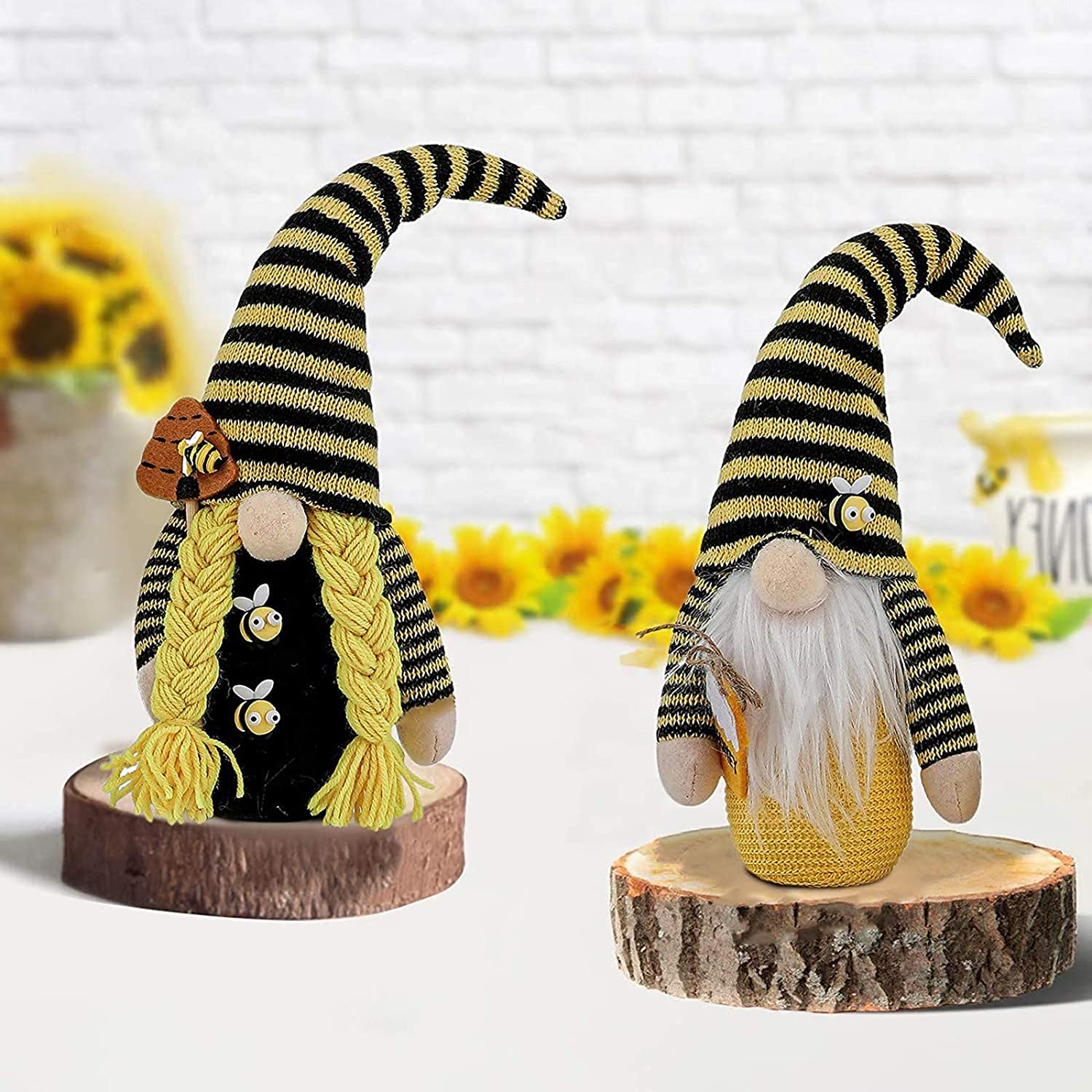 Max 85% OFF Gnome Plush Sunflower Doll Bee Striped All stores are sold and Spring Summer
