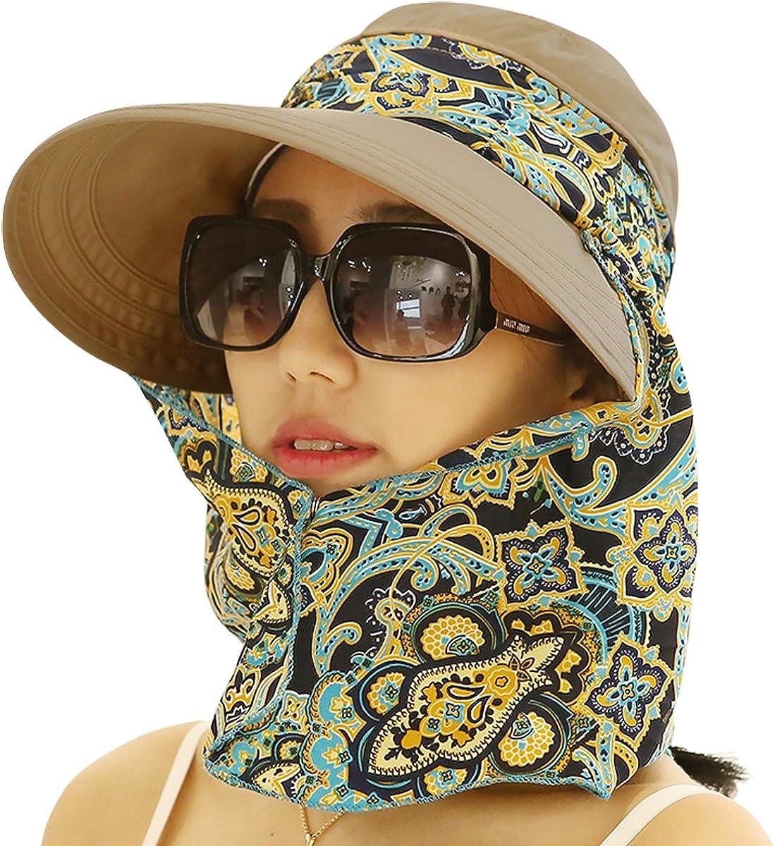 Lanzom Women Lady Wide Brim Cap Visor Hats Outdoor Summer Sun Hats