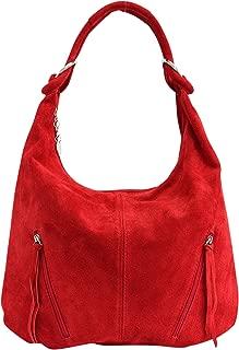 La bolsa de asas de cuero de las mujeres Bolso de gamuza Bolso de hombro Bolso de compartimiento Shopper grande WL822